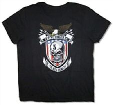 FIVE FINGER DEATH PUNCH STARS AND STRIPES USA IMPORT BLACK SHORT SLEEVE COTTON