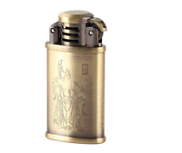 Bronze Old Style Lighter Butane Gas Unique Design Soft Flame