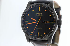 Mens Mido Multifort Automatic 372010919707 Black Dial Leather Strap Swiss Watch