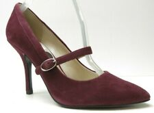 Nine West Burgundy Red Suede Leather Mary Jane Pumps Heels 8M 8 NEW