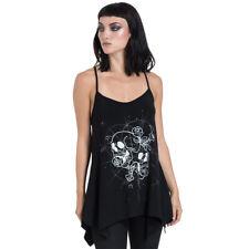 Jawbreaker Goth Gothic Punk Träger Tank Top Oberteil Dark Embrace Schädel Skull