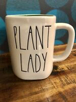 "RAE DUNN Artisan Collection LL ""PLANT LADY"" Mug With Green Inside By Magenta NEW"