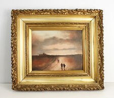 1800's Original Oil Painting British Impressionism 19th Cent. Gilt Frame SIGNED