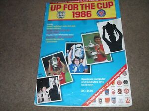 VINTAGE UP FOR THE CUP 1986 OFFICIAL FA CUP WALLCHART MAGAZINE COMPLETE STICKERS