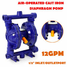 New Listingqbk 15 Air Operated Double Diaphragm Pump 115psi 12 Inlet Ampoutlet Blue Durable