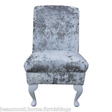 Bedroom Chair Dining Seat in a Lustro Argent Fabric REDUCED PRICE