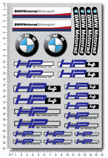 bmw HP4 motorrad motorcycle decal set sheet 28 high quality stickers s1000rr hp