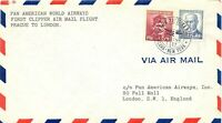 TSCHECHOSLOWAKEI 1946 Erstflug, PAA First Clipper Air Mail Flight PRAG - LONDON
