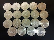 19 Silbermünzen 25 Schilling Österreich von 1955 bis 1973 - kompletter Satz