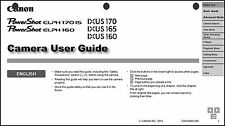 Canon ELPH 170 IS IXUS 170 ELPH 160  IXUS 165 IXUS 160  Camera User Guide