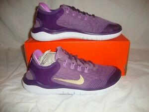 Youth Girls Nike AH3457-500 Free RN 2018 GS Sneakers Shoes Size 6.5y Violet Dust
