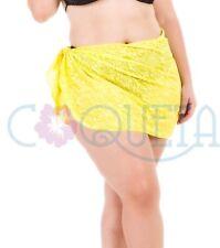 Coqueta womens Swimwear skirt Sarong Pareo Swimsuit burnout crochet PLUS SIZE !