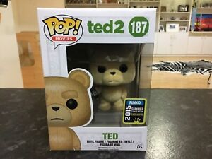 FUNKO POP! TED 2 #187 TED FLOCKED 2015 SUMMER CONVENTION EXCLUSIVE MINT VAULTED