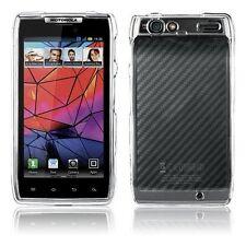 New Hard Plastic Skin Shell Snap-On Clear Case Verizon Motorola Droid Razr HD