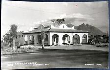 """MEXICO ~ 1940's MONTERREY ~ CAFE  """"LOS ARCOS """" LOPEZ Real Photo PC  RPPC"""