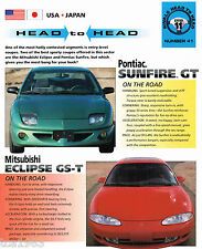 ECLIPSE GS-T vs. Pontiac SUNFIRE GT Road Test Brochure, 1995