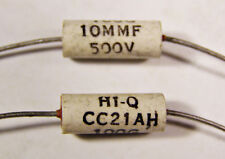5 Aerovox HI-Q CC21AH 10pf 500V Ceramic Capacitors NOS