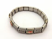 BLIN-Q DOG THEMED REMOVABLE LINK STRETCH TILE BRACELET