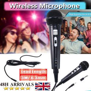 Wired Microphone Dynamic Directional Home Party DJ Karaoke Singing Mic UK