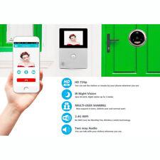 """New WiFi 2.8"""" OLED HD Screen Monitor Door Viewer Front Door Peephole Camera PIR"""
