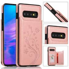 Leather Shockproof Soft Case Back Wallet Cover Fits Samsung S10 Note 9 8 S7 Edge