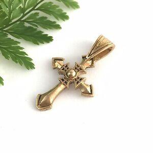 Antique Vintage Gold Style Cross Pendant