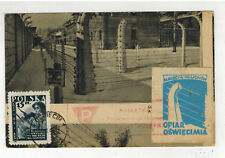 1949 Auschwitz Poland Concentration Camp Postcard Cover W Label 5th Anniversary