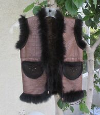 WONDERFUL AND BEAUTIFUL CHILD SIZE FRENCH LAMB VEST - STUNNING - MUST SEE!