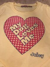 juicy couture My Dog Loves Me Long Sleeved T Shirt Age 12 Cost £60