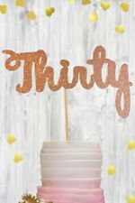 Gold 30 thirty glitter cake topper birthday 30th party celebration decoration