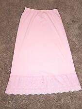Drapers & Damons Long Pink Maxi Skirt Small Stretch Elastic Waist Scalloped Hem