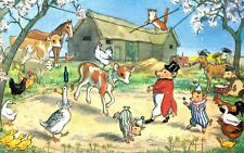 "Medici Society Postcard,PK 301,""Farmyard Circus"",Animals,Molly Brett"