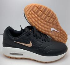 Nike Women's Air Max 1 G Golf Shoe AQ0865-002 Black Metallic Red Bronze Size 9