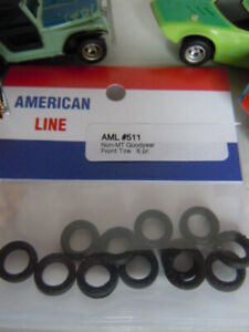 NOS 6 Pair AFX  Slot Car Good Year Front Tires ~ Free USA shipping
