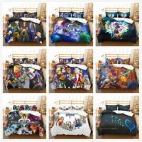 3D Kingdom Hearts Anime Duvet Cover Bedding Set Quilt/Comforter Cover Pillowcase