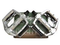 "New Wellgo LU-313 BMX Bicycle Bike Bear Trap Style Pedals 1/2"" Silver"
