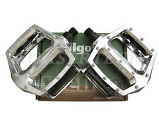 "New Wellgo LU-313 BMX Bicycle Bike Bear Trap Style Pedals 1/2"" Silver"
