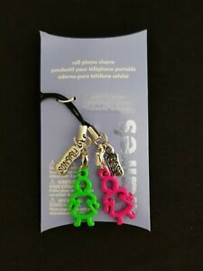 New Claire's Cell Phone Charm Cartoon Girls Best Friends 2 piece