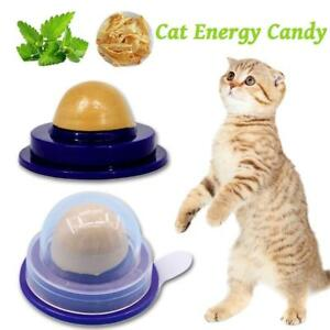 Cat Snacks Catnip Sugar Candy Licking Solid Nutrition Energy Ball Toys Healthy !