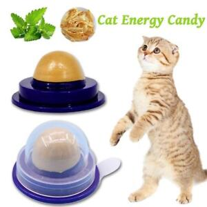 Cat Snacks Catnip Sugar Candy Licking Solid Nutrition Energy Ball Toys Healthy.H