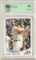 Evan Gattis 2013 Topps #418 Braves Rookie Card PGI 10