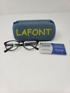 Jean Lafont Paris France Crizal No-Glare Cat Eye Turquoise Frame Eyeglasses