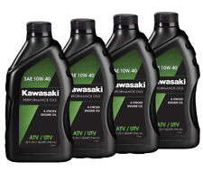 Genuine Kawasaki 10W40 Conventional Motorcycle Oil 4 Pack- (K61021-204A)