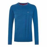 MERC Vernon blue union jack knitted cotton jumper size XL