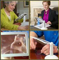 LED VIEWER 3-fach Vergrößerung Leselupe Lupe Schreibtisch Tischlupe Leselampe