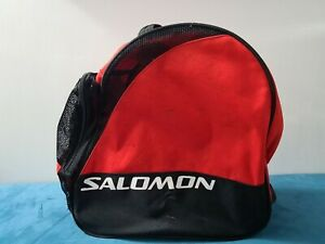 Salomon Ski Boot Lined Carry Travel Bag - Black and Red