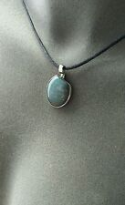Speckled Blue Agate & Sterling Silver Pendant