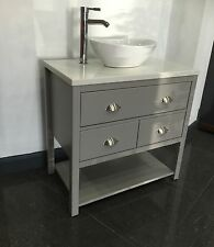 Painted Bathroom Cabinet Wash Stand 800mm Granite Top, Any Colour