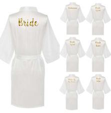 Personalized  Satin Silk Wedding Bath Kimono Robe Bridesmaid Bride Dressing Gown