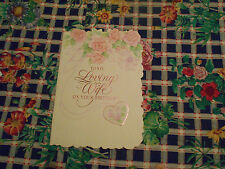LOT OF 4  EMBOSSED DAY SPRING''TO MY LOVING WIFE'' BIRTHDAY CARDS.